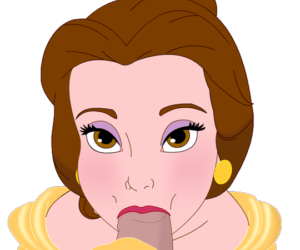 Beauty and the Beast Belle Being French sans background
