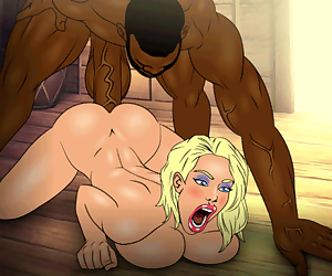 Toon slut getting stretched by a monster black cock