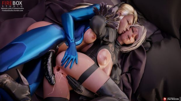 Samus and 2B – Nier Automata – Metroid