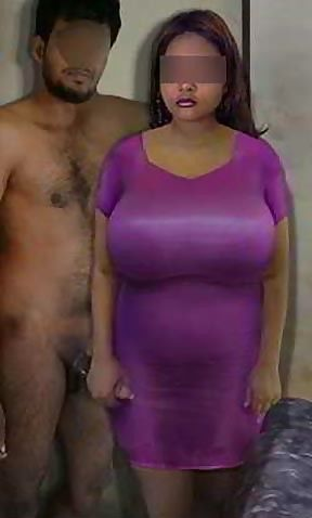 Desi Whore Indian Slut Aunty Chudani Raandi Showing Big Boobs in Tight Dress Posing with her customer holding cock and ready to get Fucked