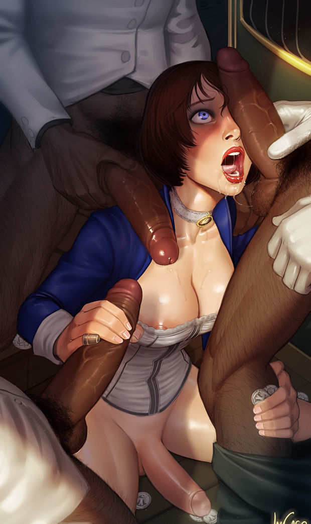 Futa Liz vs cocks.