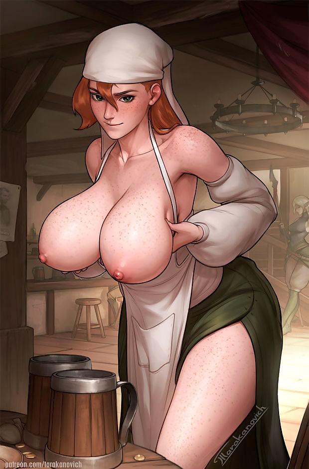 Sexy servant.
