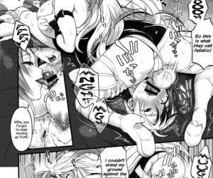 Futanari Seirei Shimai ni Shieki Sarechau!?