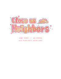 Close as Neighbors - part 4