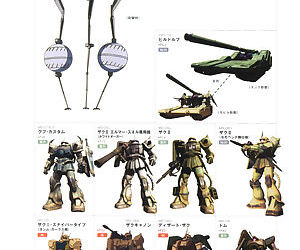 Great Mechanics - Land Battle Mobile Suit and Weapon of Zeon