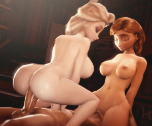 Elsanna Hentai Animated