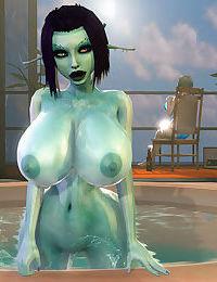 Soria - Big Titty 3D Elf Girl Tittyfucking + Sex Adventures with Tifa Lockhart 3D - part 2