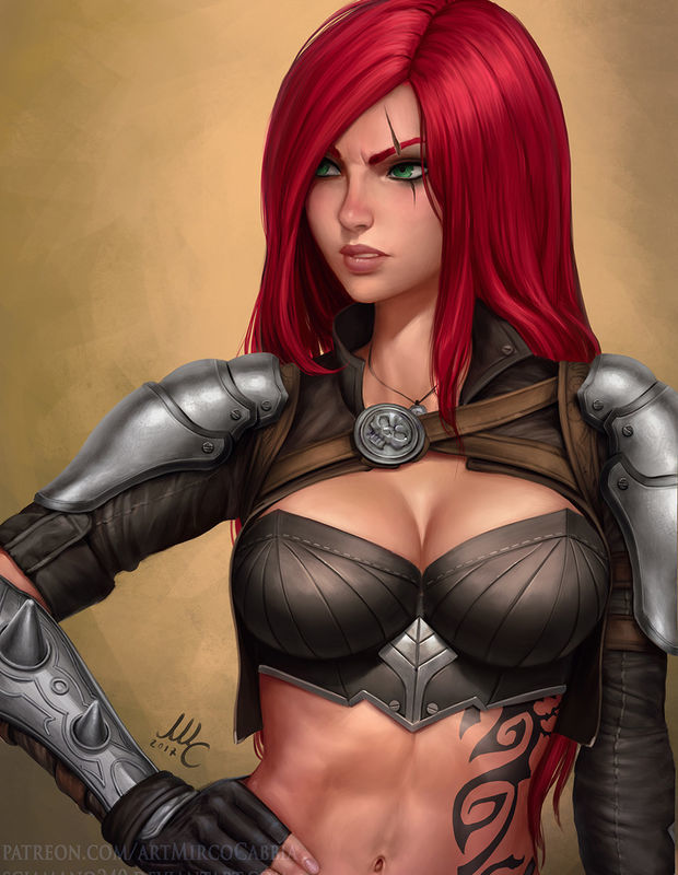 Picture- Fierce Katarina by Mirco Cabbia