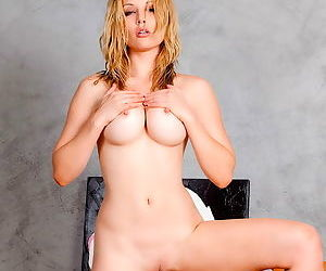 The Kayden pictures include a striptease and a demonstration of her pussy