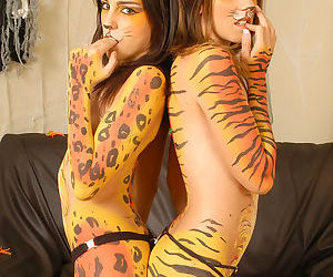 Aside teen broads dressed painless leopards