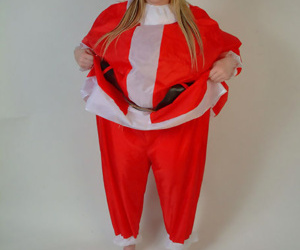 Fat Santa curvings into a thorough flaxen-haired teen girl just about enormous boobies