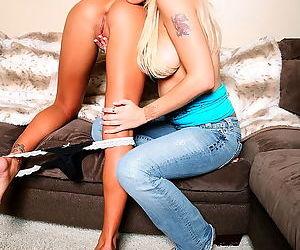 Lesbian pornstar fingering and licking makes them both happy