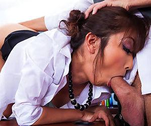 Needy Marica Hase gets tasty cock deep in her juicy holes
