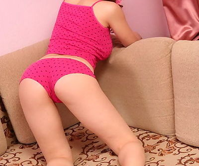 Fabulous innocent teen honey pretty in pink