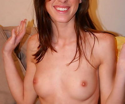 Lovely young bitch posing naked