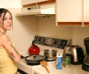 Tattooed teen broad thither Nautical galley