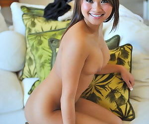 Great Asian girl with a sweet smile and big titties to go with a pink pussy