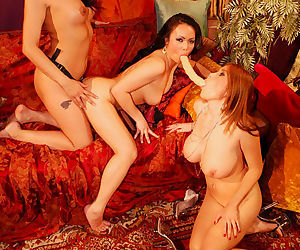 Asian lesbians have a lusty orgy with hot model Tera Patrick in play
