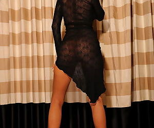 Leggy Asian Kt So in her arousing solo gallery with lingerie and teasing