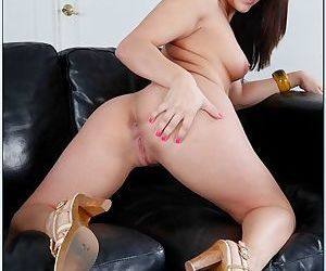 She shows her pink pussy and then invites a guy to fuck her hard