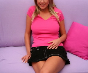Sinful young teen in sinistral shirt plus mini unreserved