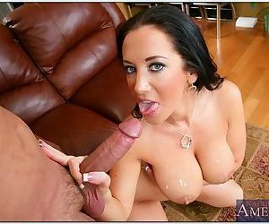Big meat stick between her tits and in her pussy before it cums hard