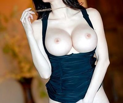 Little black dress is mind blowing on big breasted model Talia Shepard
