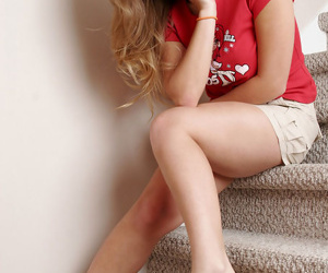 Massive meloned adolescent teases in short miniature petticoat