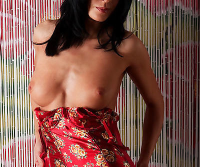 Her lingerie is hot and her naked body underneath is stunningly hot