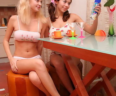 Beautiful teen angles getting naughty together