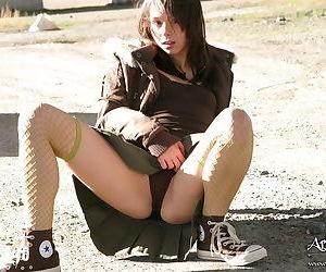 Stunning teen bitch posing not on seductively