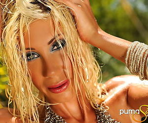 Puma Swede outdoors playing with her pussy and masturbating lustily
