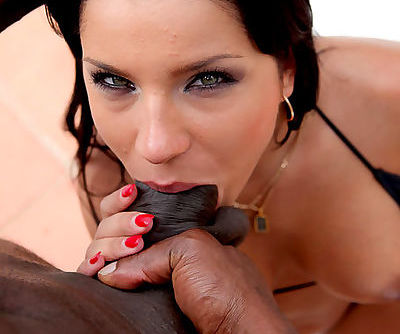 A big black cock is enough to fill her mouth after enjoying a great fuck
