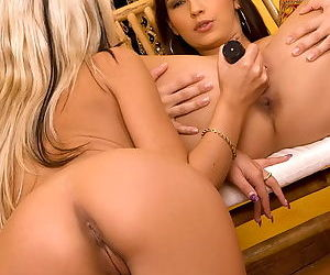 Eve Angel loves to lick a wonderful blonde pussy in a sizzling hot gallery