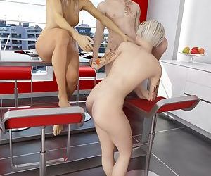 3Dincest- Fortunate Son Fucks Mother And Sister