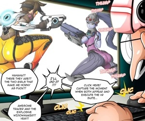 VR Put emphasize Comic Overwatch- Witchking00