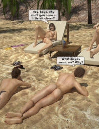 FamilyFancy3D- Family orgy at the beach
