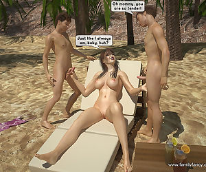 FamilyFancy3D- Family bang-out at the beach