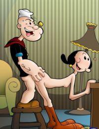 Drawn Sex- Popeye and Olive Oyl