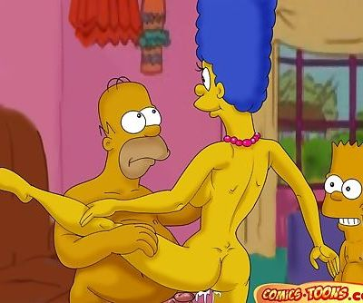 The Simpsons- Lustful Homer and Marge