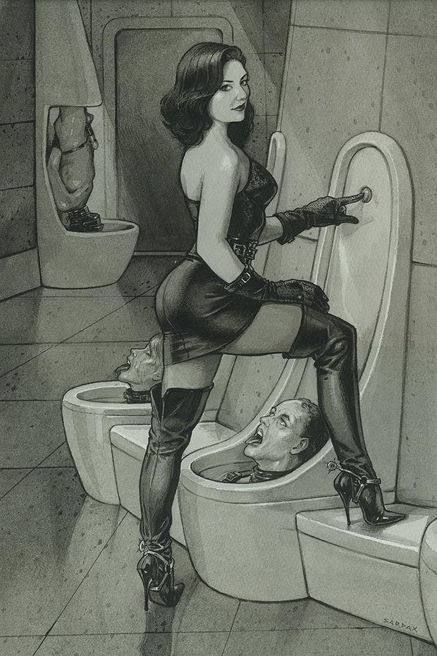 Femdom toilet Sardax style