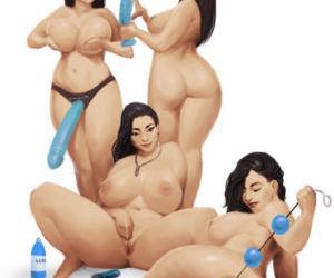 Cartoon BBW loves toys