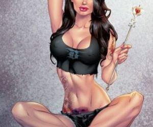 Sexy brunette queen