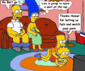 Simpson family watching porn