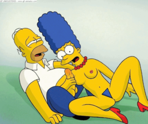 Marge pleasuring Homer