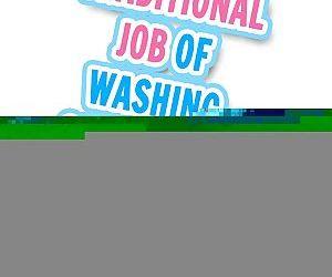 Traditional Job of Washing Girls Body - part 17