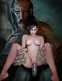 Monster alien orrible creatures sexually using and abusing babes