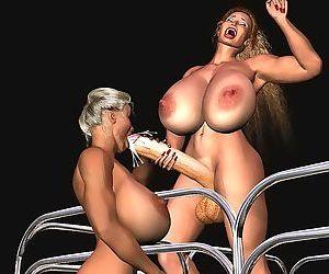 Big futanari cocks and boobs - part 3