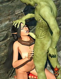 Hott elven princess cock stuffed in tight fuckholes by ugly hell fuckers