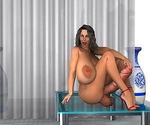 Big boobs big cocks muscle futanari - part 2